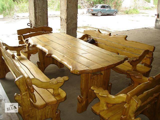 Мебель из дерева для беседки своими руками