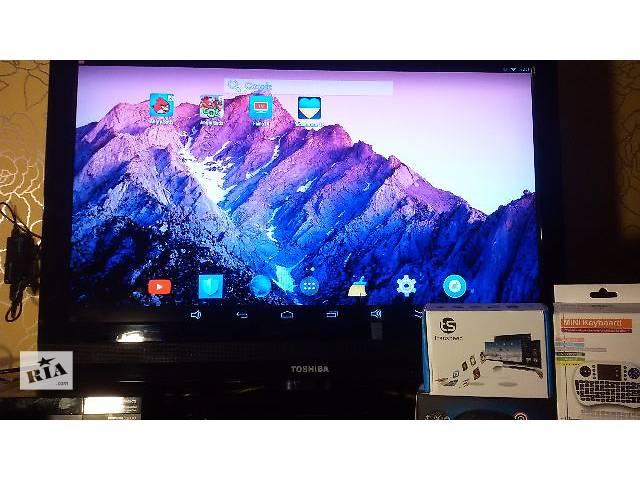 купить бу Медиаплеер ТВ приставка Андроид 4 ядра 1/8 Гб Wi-Fi плеер клавиатура в Полтаве