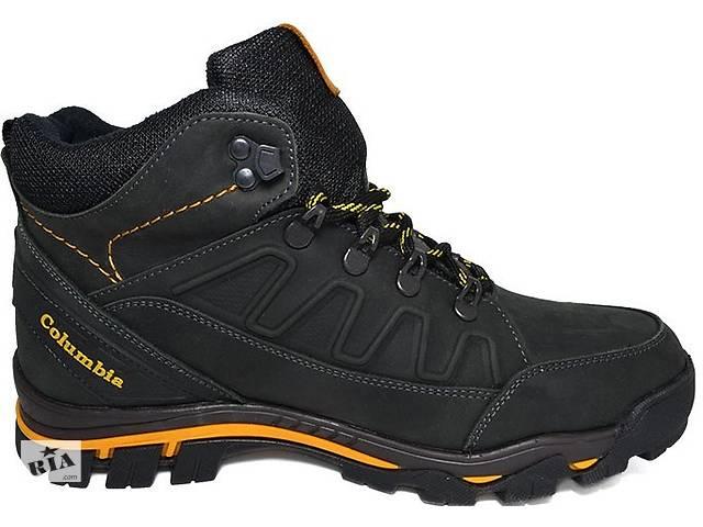 c759ecd1d Зимние мужские кожаные ботинки Columbia Black обувь Коламбия качество тепло  комфорт
