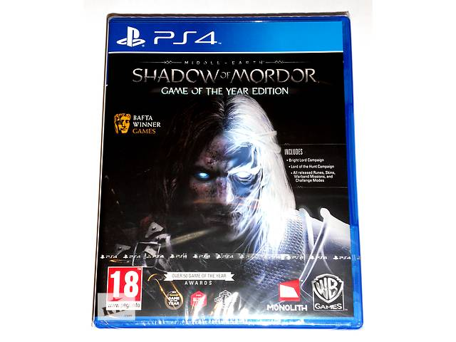 купить бу Middle Earth Shadow of Mordor GOTY PS4 новый диск / русский / в наличии в Запорожье