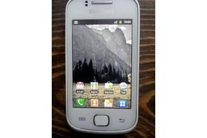 б/у Сенсорные мобильные телефоны Samsung Samsung S5660 Galaxy Gio Silver White