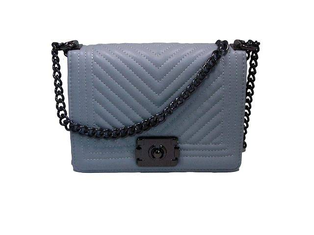 Модная женская сумочка Chanel цвет серый- объявление о продаже  в Киеве