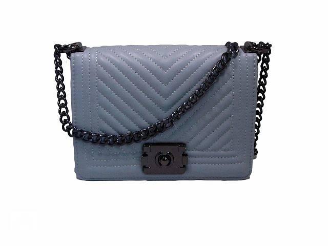 купить бу Модная женская сумочка Chanel цвет серый в Киеве