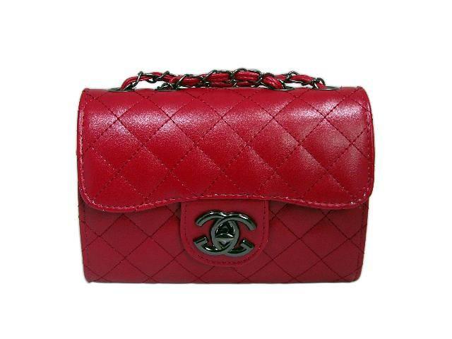 купить бу Модная женская сумочка-клатч Chanel цвет красный в Киеве