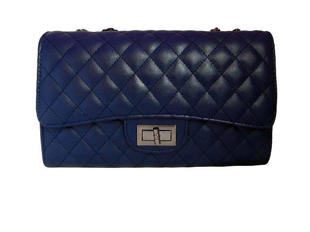 бу Модная женская сумочка-клатч Chanel цвет темно-синий в Киеве