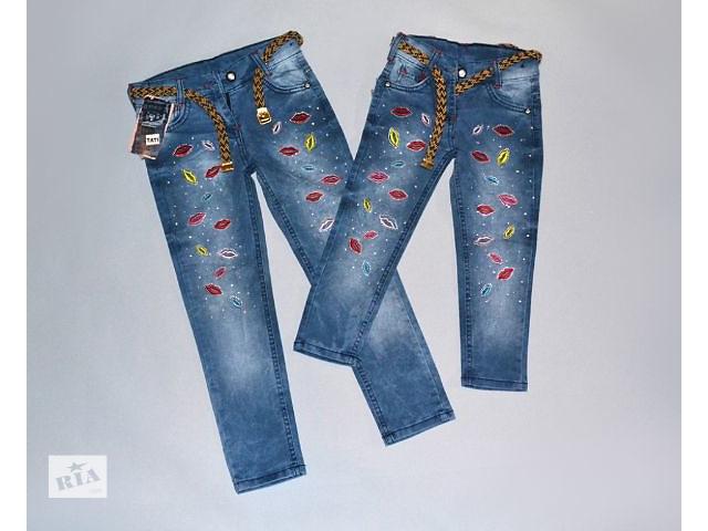 купить бу Модные джинсы для девочек, на 3-7 лет в Запорожье