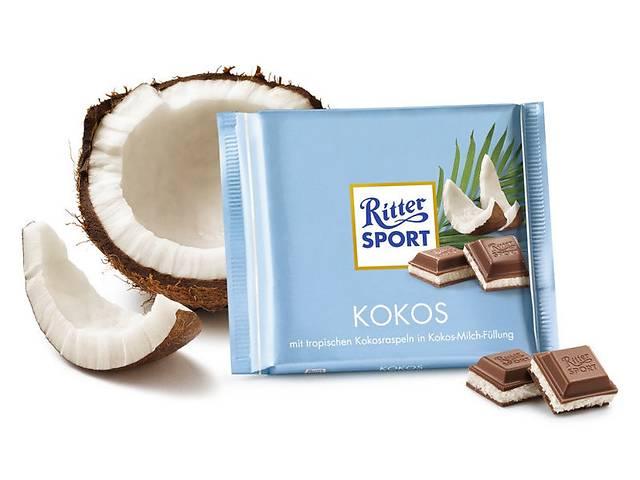 бу Молочный шоколад Ritter Sport скокосовой стружкой и кремом  в Харькове