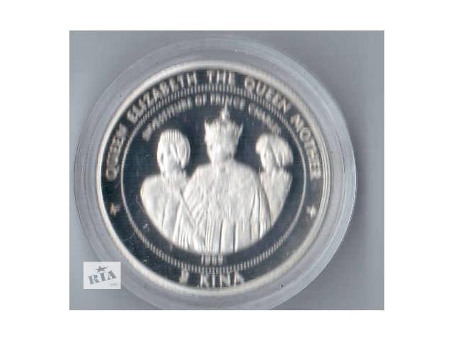 бу Монета 2 кина Папуа-Новая Гвинея серебро пруф в Харькове