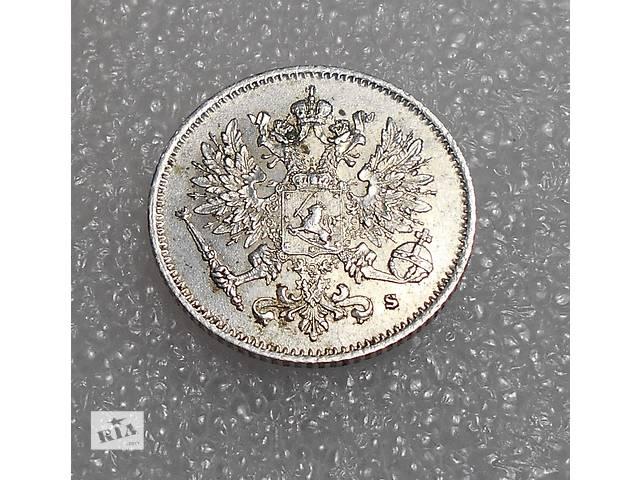 бу Монета (серебро) 25 пенни 1916 г. S. Для Финляндии (Николай II). в Николаеве
