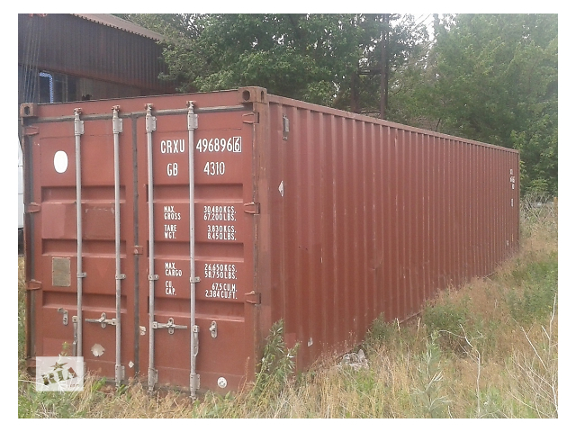 Морський контейнер, 40 футів, допоможу з завантаженям та доставкою. - объявление о продаже  в Ровно