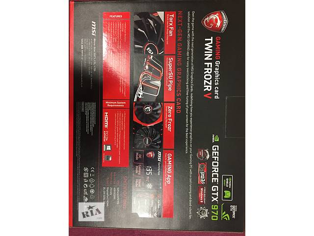 продам MSI PCI-Ex GeForce GTX 970 Gaming 4G бу в Киеве