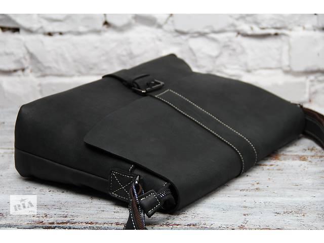 Мужская кожаная сумка.Ручная работа.Бесплатная доставка- объявление о продаже  в Киеве