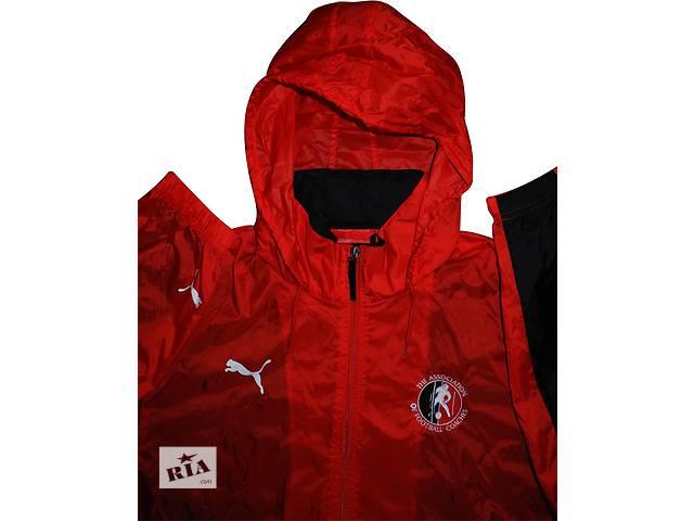 продам Мужская куртка ветровка красная с капюшоном Puma L бу в Полтаве