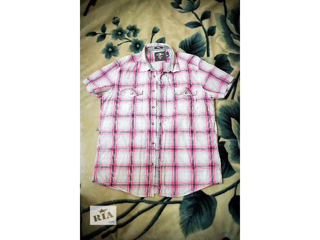 продам Мужская рубашка H&M (Эйч энд Эм) с коротким рукавом в клетку, размер L бу в Днепре (Днепропетровск)