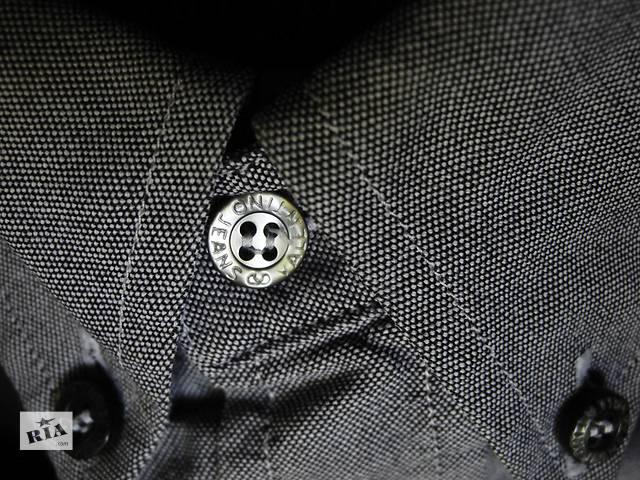 купить бу Мужская рубашка серая синяя классическая Valentino Jeans L в Полтаве