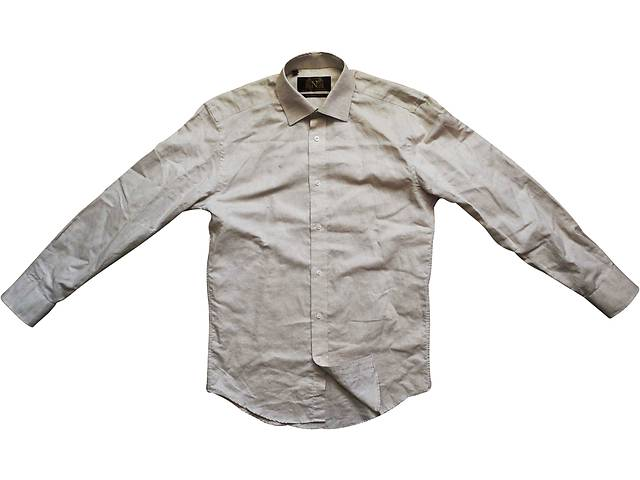 купить бу Мужская рубашка светлая кофейная Next Tailored Fit M S в Полтаве