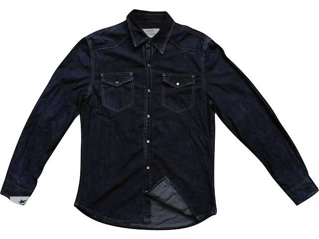 купить бу Мужская рубашка темно синяя джинсовая River Island M в Полтаве