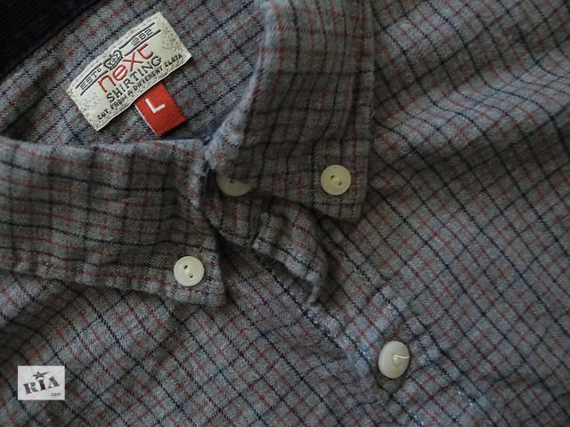 бу Мужская рубашка в клетку Next Laundered Shirt L в Полтаве
