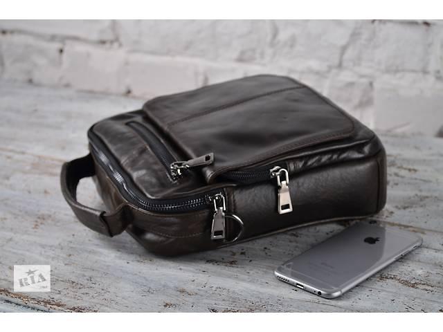 Мужская сумка-мессенджер из 100%натуральной кожи.Отличное качество!- объявление о продаже  в Киеве