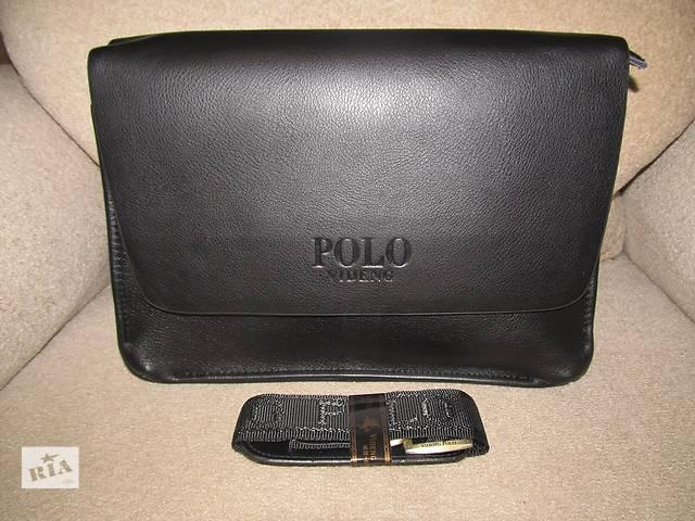 Мужская сумка-портфель Polo Videng 33х25х7см. Чёрный/коричневый. Много вариантов- объявление о продаже  в Киеве