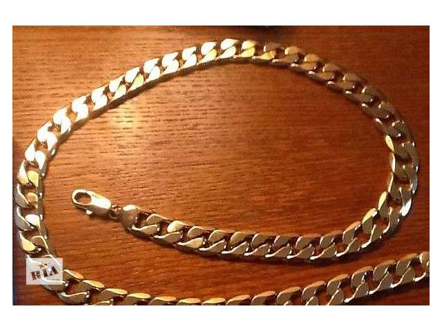бу Мужская цепь BVLGARI с золотым напылением в Львове