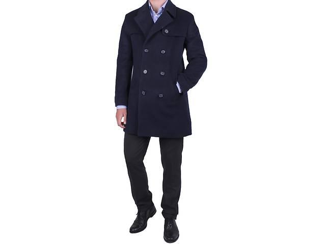 продам Мужское пальто синее бу в Киеве