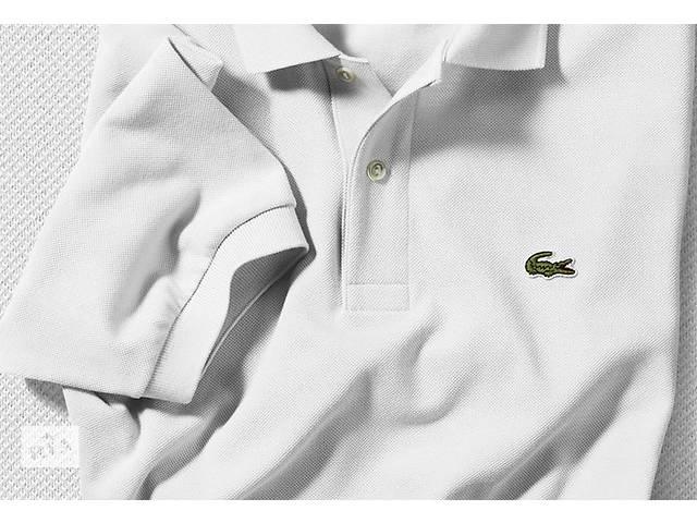 купить бу  Мужское поло Lacoste белого цвета в Одессе