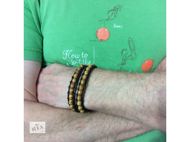 продам Мужской кожаный браслет бу в Одессе
