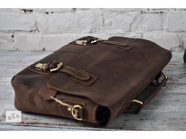 продам Мужской презентабельный коричневый портфель.Ручная работа.100% кожа бу в Киеве