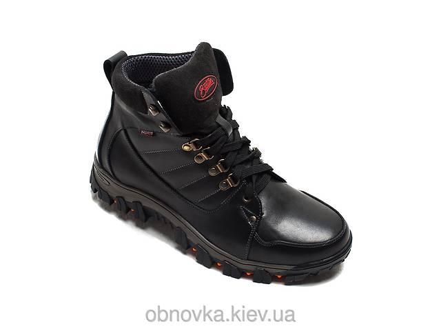 бу Мужские ботинки зимние натуральная кожа черные хаки в Львове
