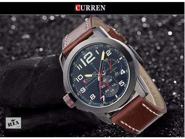 купить бу Мужские часы Curren Black №1  В наличии! в Нежине