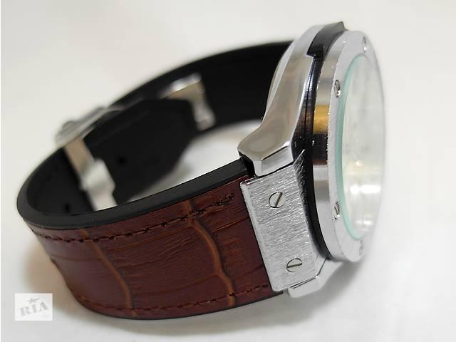 купить бу Мужские часы HUBLOT - GENEVE (4 цвета) кожаный с каучуком ремешок в Киеве