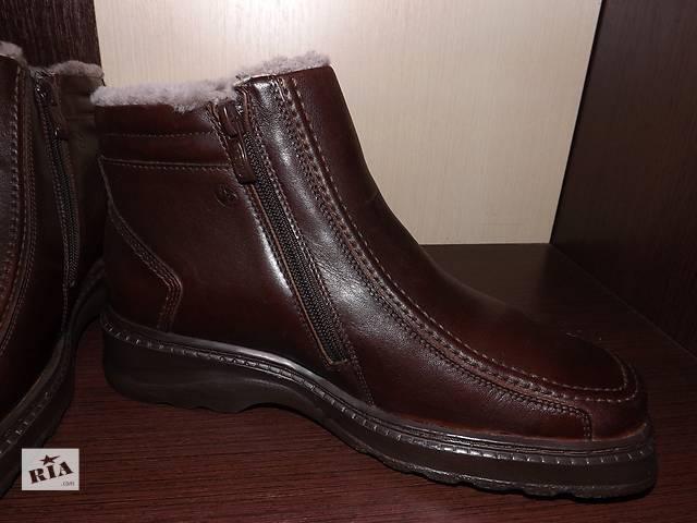продам Мужские кожаные ботинки зима бу в Запорожье