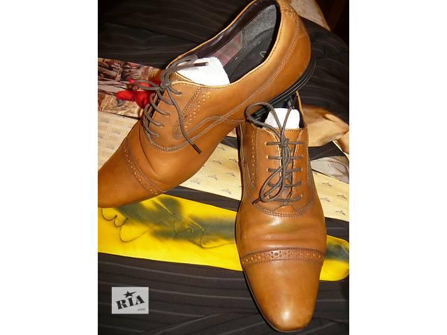 продам Мужские кожаные повседневные туфли Clarks 42р.б/у. бу в Николаеве
