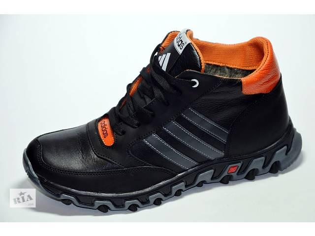 бу Мужские кожаные зимние ботинки Adidas в Львове