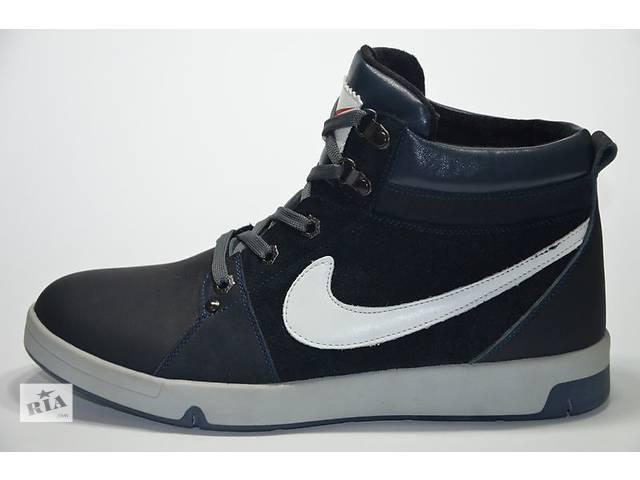 купить бу Мужские кожаные зимние кроссовки Nike в Львове