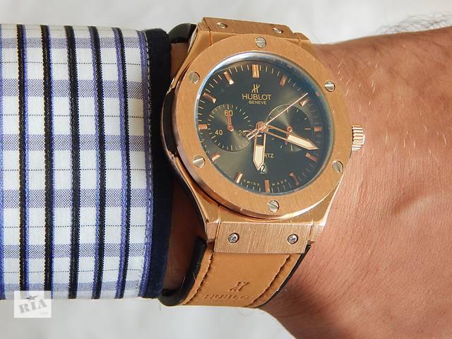 купить бу Мужские кварцевые часы Hublot geneve 3 цвета - супер качество по лучшей цене в Харькове