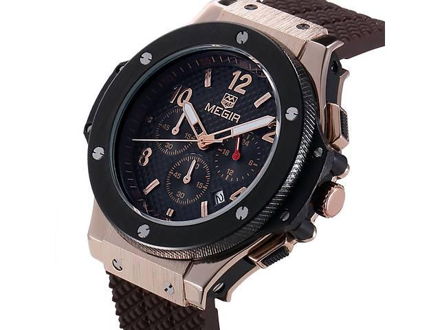 Крутые мужские наручные часы хронограф Megir ( Hublot  Big Bang )- объявление о продаже  в Кривом Роге (Днепропетровской обл.)