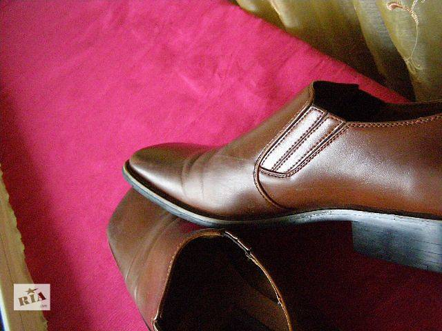 купить бу Мужские туфли 41р. Кож.зам.Идеальные. в Ромнах