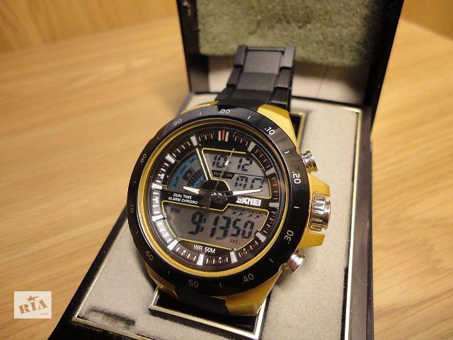 купить бу Мужские водонепроницаемые часы Skmei Shark 1016. Новые! (черные) в Сумах