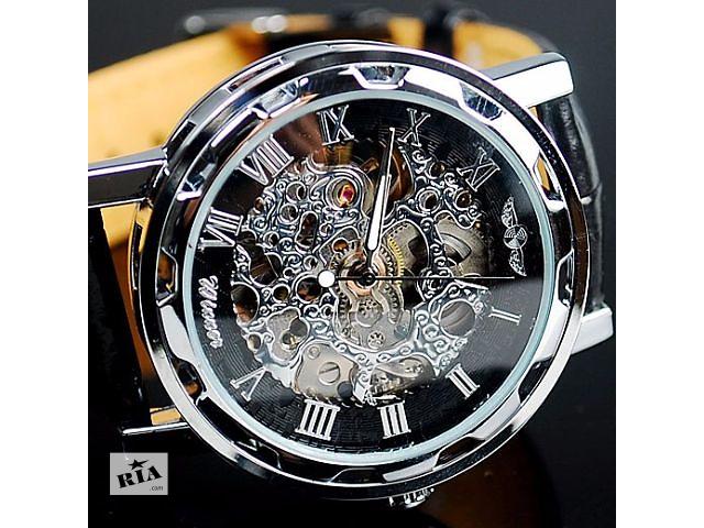 бу Мужские часы Winner (Кожаный ремешок) Гарантия! в Львове