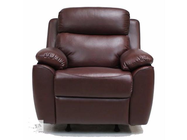 купить бу Мягкое кресло для отдыха, кожа, модель Alabama Bis-1, со склада в Киеве