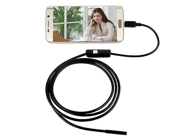 купить бу Мини камера Ендоскоп водонепроницаемый USB от 1 до 10 метров длина. Толщина камеры от 5,5 до 7мм. 6 светодиодов в Киеве