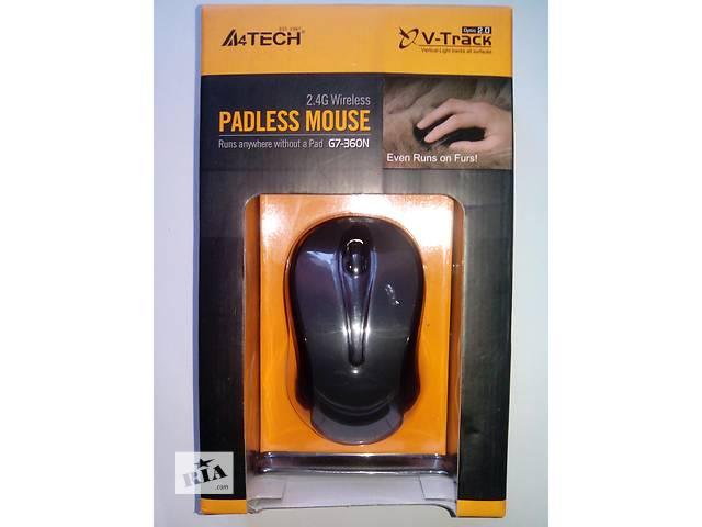 бу Мышка безпроводная A4 Tech G7-360N V-Track Wireless Glossy Grey в Киеве