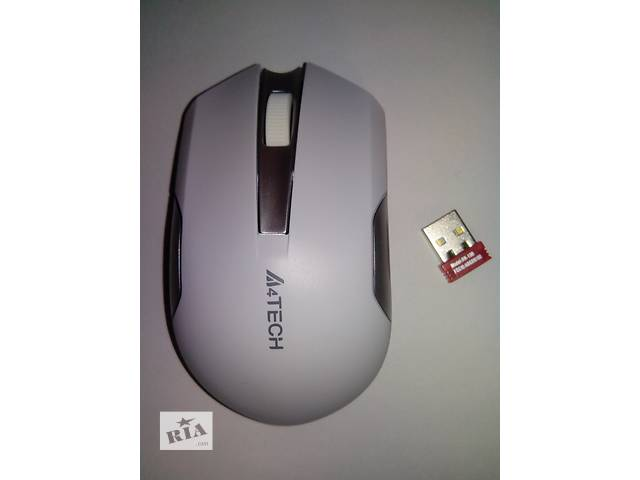 купить бу Мышка безпроводная A4Tech G3-200N V-Track Wireless White в Киеве
