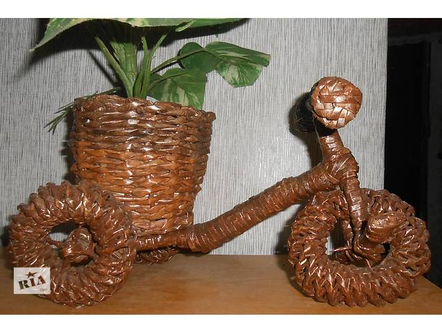 бу на заказ плетеное кашпо для цветов в Запорожье