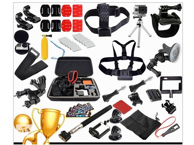 продам Набір аксесуарів для GoPro, сімейний комплект (30 в 1), екшен камера бу в Каменец-Подольском