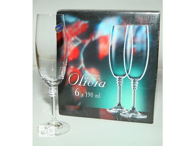 продам Набор бокалов для шапанського Bohemia Olivia бу в Калуше