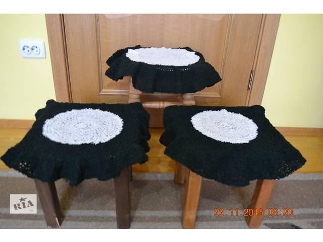 продам набор вязаных ковриков бу в Хусте