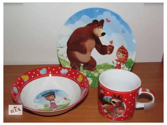 купить бу Набор Детской Посуды Маша и Медведь в Виннице
